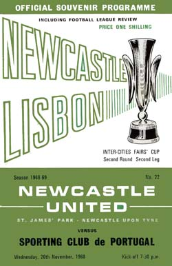 Matchday Programme : 20/11/1968