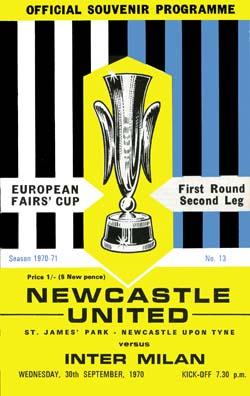 Matchday Programme : 30/09/1970