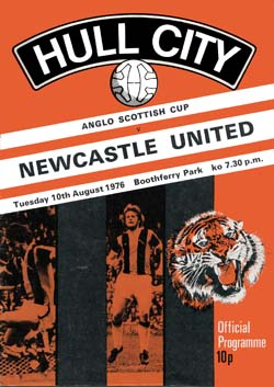 Matchday Programme : 10/08/1976