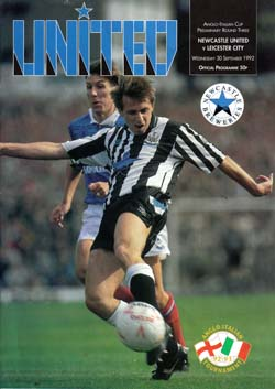 Matchday Programme : 30/09/1992