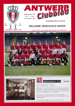 Matchday Programme : 13/09/1994